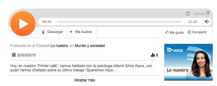 Podcast Silvia Álava - Radio Ecca