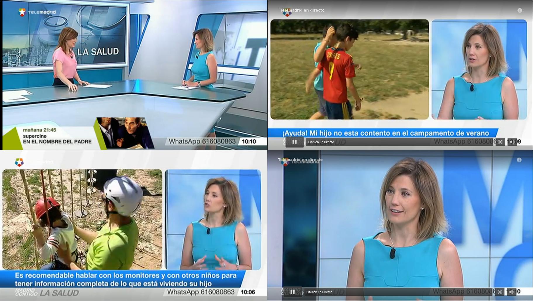 Silvia Álava - TeleMadrid - Madrid ContigCampamentos de verano