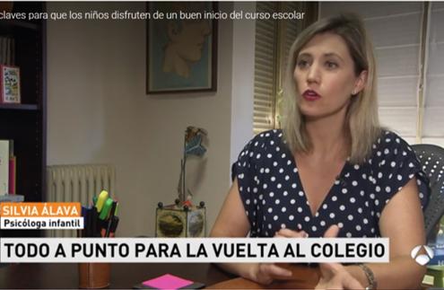 Vuelta al cole - Antena3 - Silvia Álava