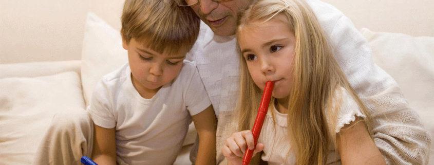 Abuelos educando nietos