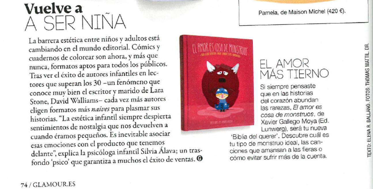 Vuelve a ser niña - Revista Glamour - Silvia Álava