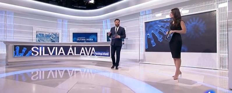 Silvia Álava - La1 de TVE Coronavirus - los paseos de los niños