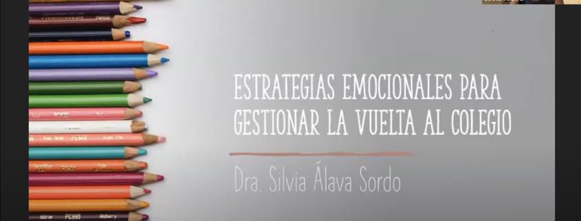 Webinar Estrategias emocionales para gestionar la vuelta al colegio